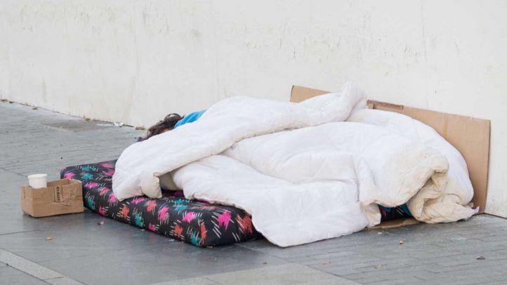 Foto de archivo de personas en situación de pobreza extrema