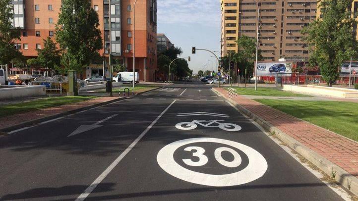 Nuevos itinerarios ciclistas de Vicálvaro