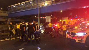 Un accidente en la A-1 deja seis heridos