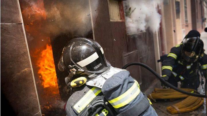 Incendio en una vivienda de Tetuán.