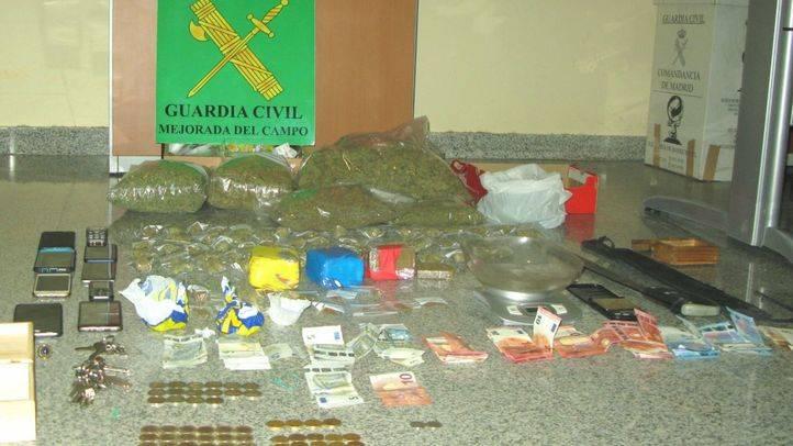 Droga incautada por la Guardia Civil en Mejorada del Campo