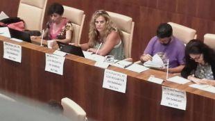 Mercedes Condés (segunda por la izquierda) lidera el grupo Ganar Leganés