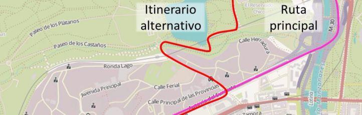Plano de la Casa de Campo.