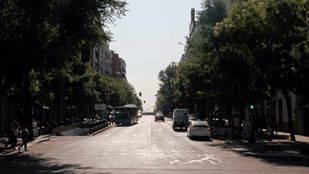 Vista de la calle de Ortega y Gasset desde la Calle de Serrano, una de las posibles localizaciones.