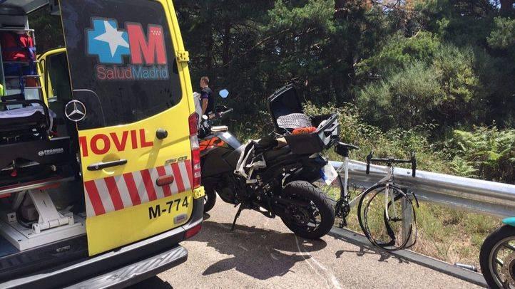 Emergencias 112 Comunidad de Madrid en el lugar de lo ocurrido