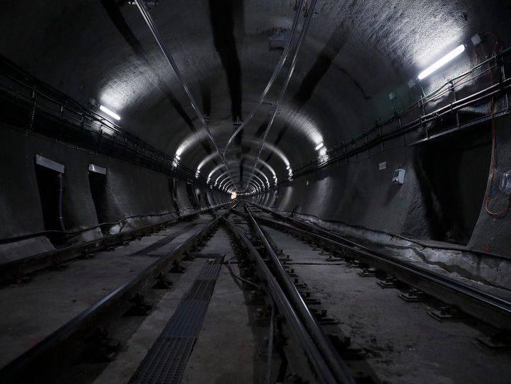 Foto de archivo de uno de los túneles de Metro de Madrid.