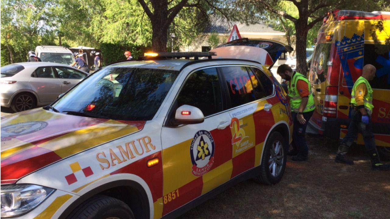 Herida muy grave una joven de 20 años en un choque entre dos vehículos en la M-612