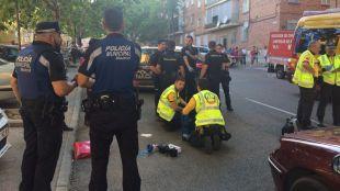 Imagen del suceso de San Blas, donde ha fallecido una mujer tras haber sido atropellada.