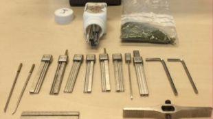 Kit de herramientas incautado por la Policía de Madrid