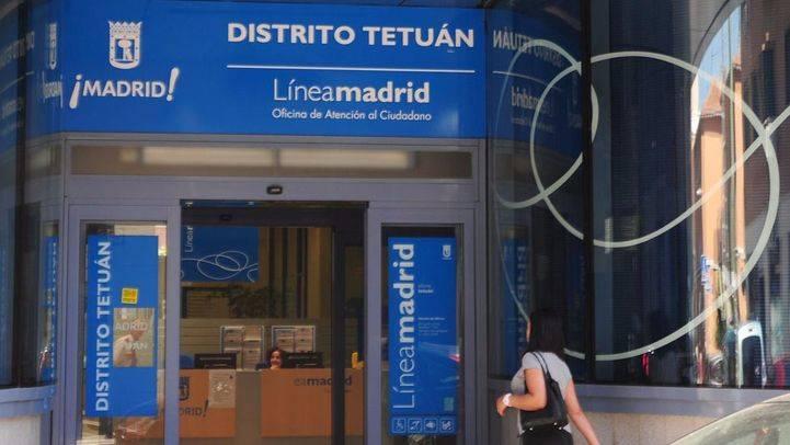 Foto de archivo de una de las oficinas de Línea Madrid