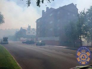 El incendio de Las Rozas deja seis viviendas afectadas y seis hectáreas calcinadas