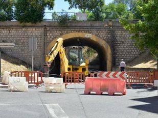 Obras del tunel bajo la Avd Andalucía y A-4.