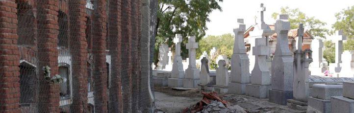El cementerio de Fuencarral sufrió algunos desprendimientos a finales de enero. (Archivo)