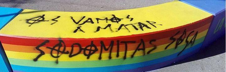 Pintadas homófobas en Torrelodones: