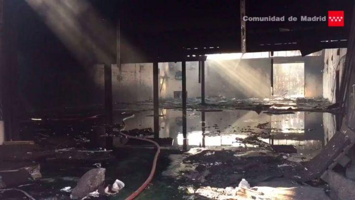 Incendio extinguido en una nave de Leganés