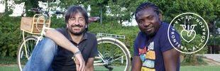 David y Lomkoua llegan a Madrid tras recorrer 500 km en 'bici' con el proyecto De la frontera al corazón