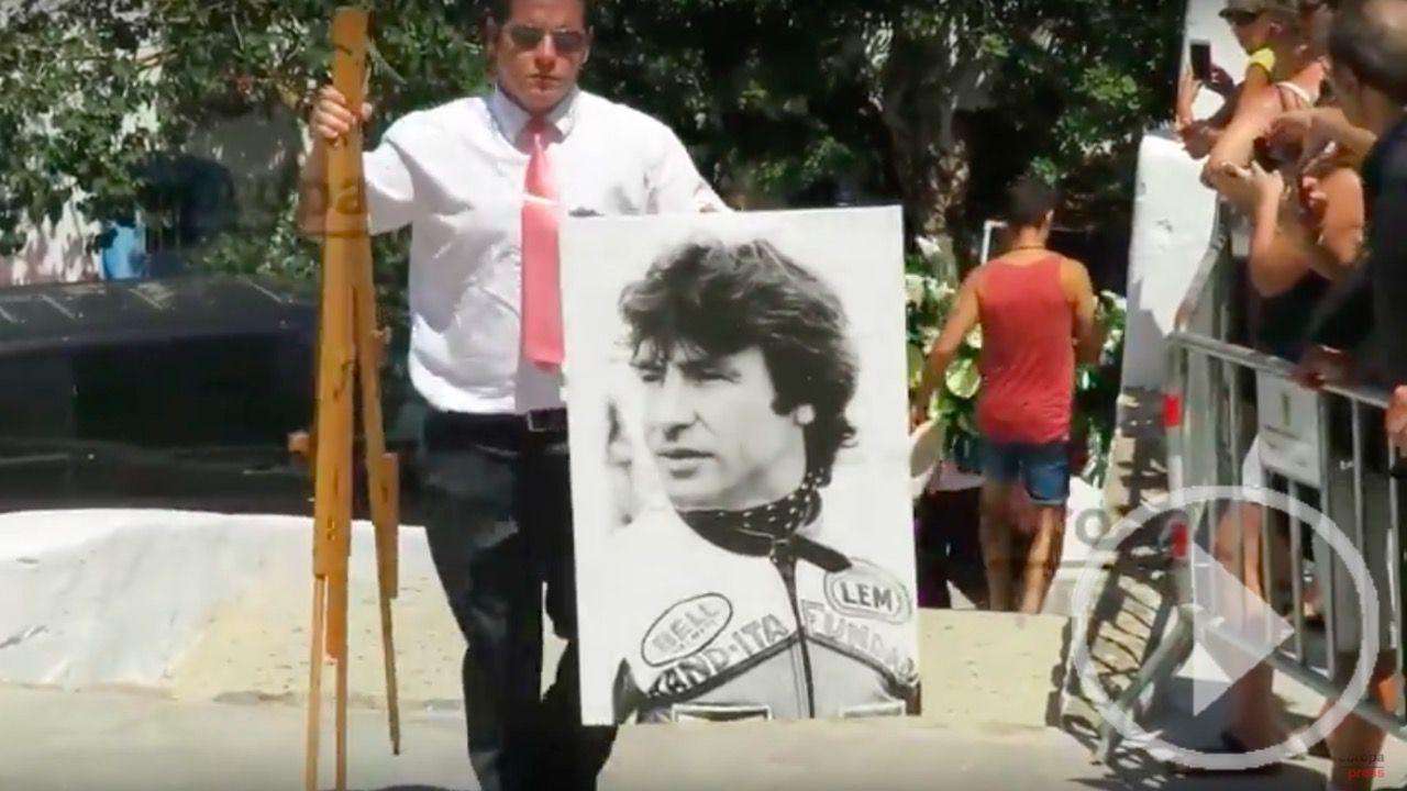 Último adiós al piloto Ángel Nieto en Ibiza