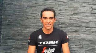 Alberto Contador en el vídeo en el que anuncia su retirada.