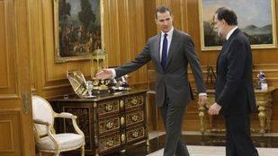 Recepción del rey Felipe VI a Mariano Rajoy. (Archivo)