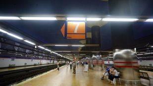 Andén de la Línea 7 de Metro.
