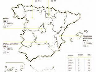 Los ofibuses de Bankia: casi 40.000 kilómetros al mes por 337 pueblos de cinco regiones