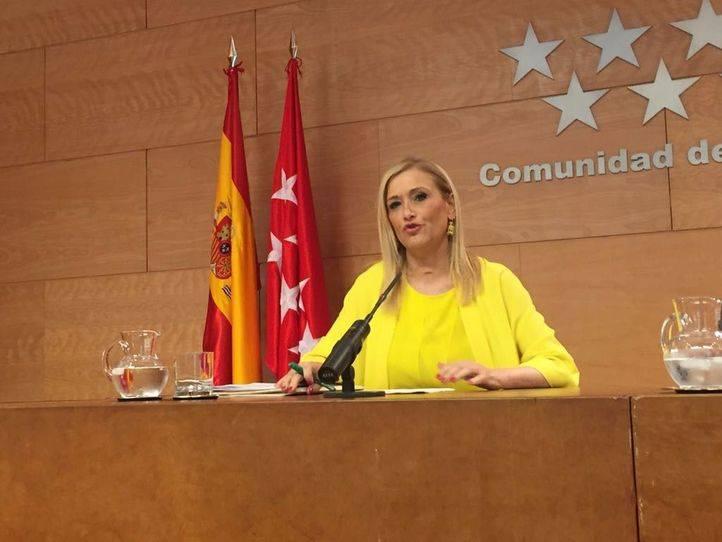Cristina Cifuentes, tras la reunión del Consejo de Gobierno
