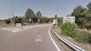 Tramo de la M-600 en el municipio de El Escorial.
