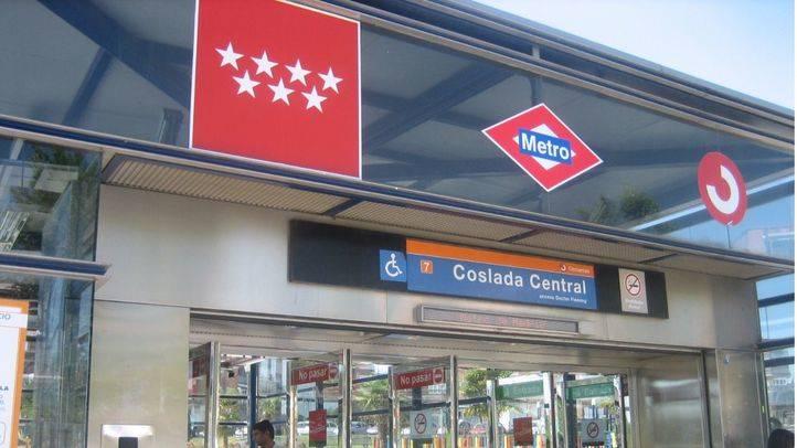 Estación de Coslada Central, una de las afectadas por el corte en la Línea 7 de Metro
