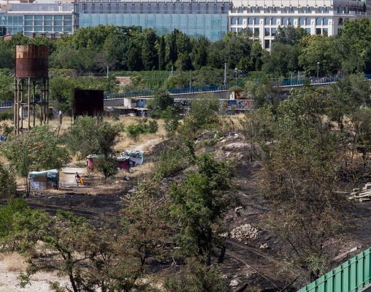 Incendio en el asentamiento chabolista de Delicias