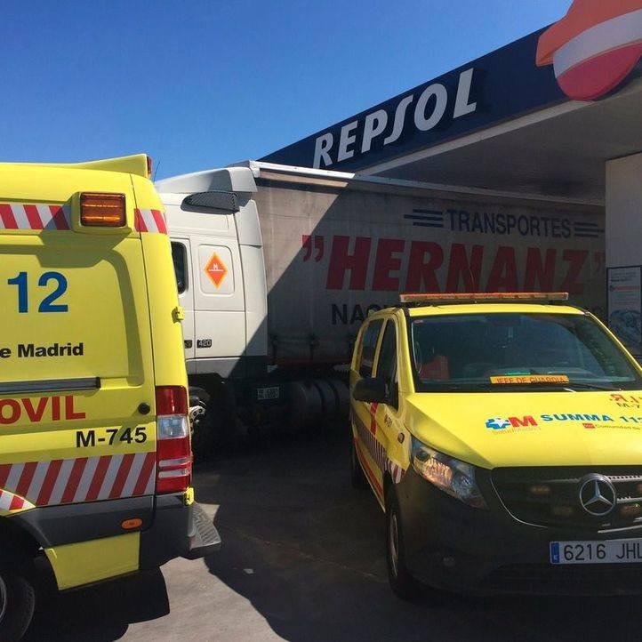 Muere un hombre de 72 años, atropellado en una gasolinera de Casarrubuelos