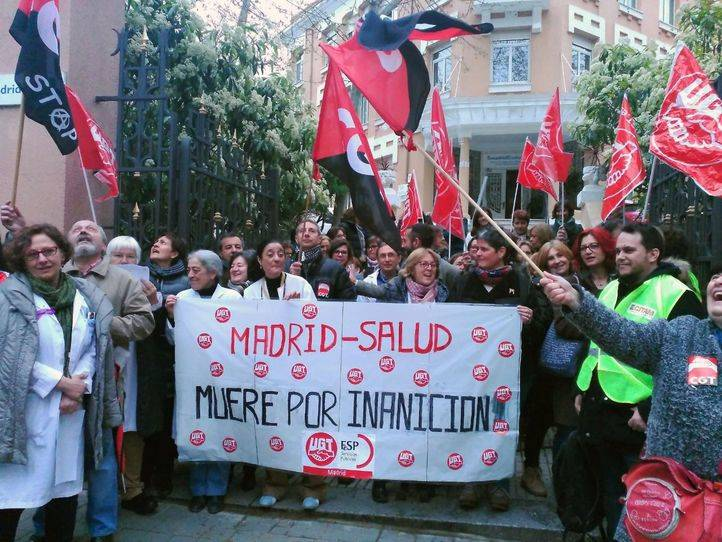 UGT, CCOO y CGT reivindican la precariedad de los centros de Madrid Salud. (Archivo)