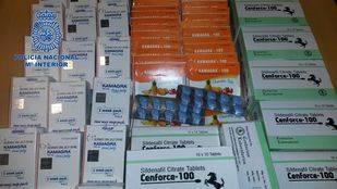 Se han intervenido más de 1.200 comprimidos y 140 sobres de sustancias para la disfunción eréctil, 600 euros en efectivo y un teléfono móvil