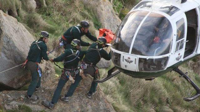 Rescate de los montañeros madrileños.