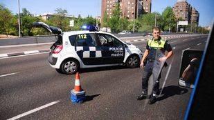 Foto de archivo de un control de trafico policial