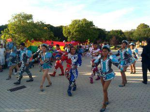 Danzas folclóricas bolivianas en Usera para acoger a la virgen de la Urkupiña