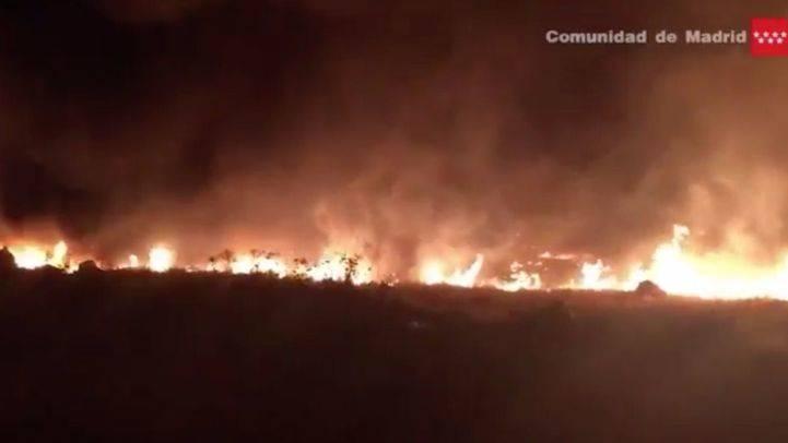 Incendio de pastos en Rivas-Vaciamadrid.