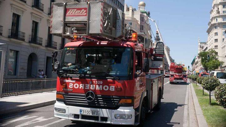 Camión de los Bomberos del Ayuntamiento de Madrid