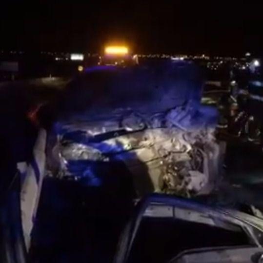 Tres heridos en una colisión frontal en Móstoles