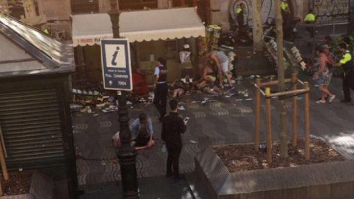 Vea aquí las imágenes del atentado en Barcelona