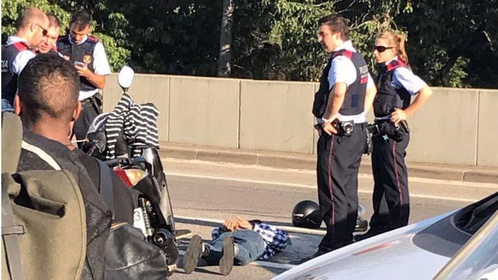 Un policía ha resultado herido en otro atropello en la Diagonal