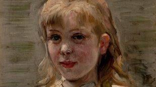 'Carola', de Ricardo de Madrazo (hacia 1879). Óleo sobre tabla (13x11 cm.).