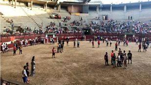 Minuto de silencio en el segundo encierro de las fiestas de Leganés.