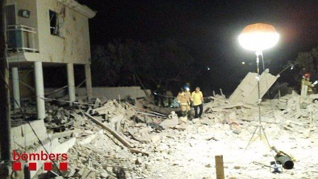 Estado de la casa de Alcanar tras la explosión