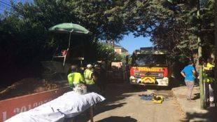 Accidente laboral en el distrito de Hortaleza