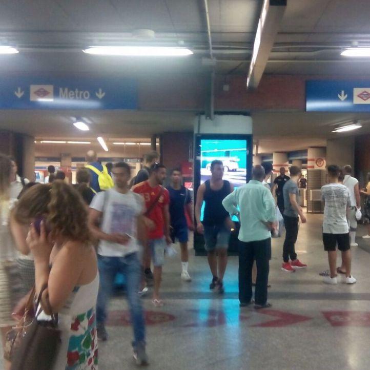 Viajeros en Atocha Renfe