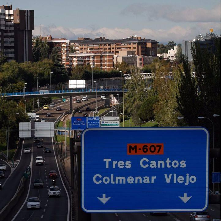 La Comunidad licitará el desdoblamiento de la M-607 entre Tres Cantos y Colmenar