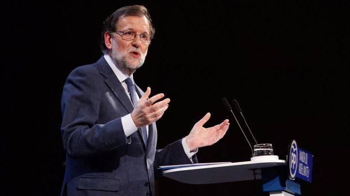 Mariano Rajoy en la tribuna durante su discurso.