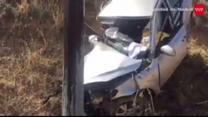 Varios heridos en una colisión entre tres vehículos en Moraleja de Enmedio