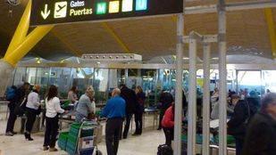 Tiempo de paso por los filtros de seguridad del Aeropuerto Adolfo Suárez Madrid-Barajas.