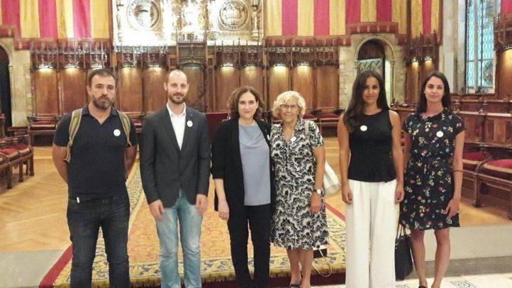 La delegación del Ayuntamiento de Madrid se une a la manifestación de Barcelona
